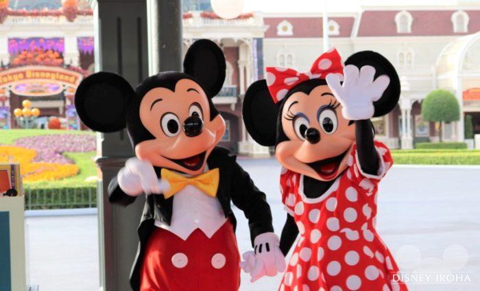 【メインエントランス】ミッキーマウス&ミニーマウス