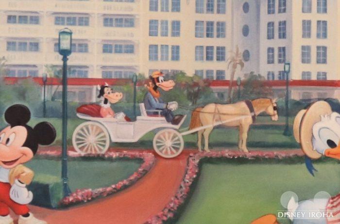 香港ディズニーランド・ホテルで過ごすミッキーフレンズの絵