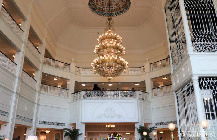 香港ディズニーランド・ホテルのロビー