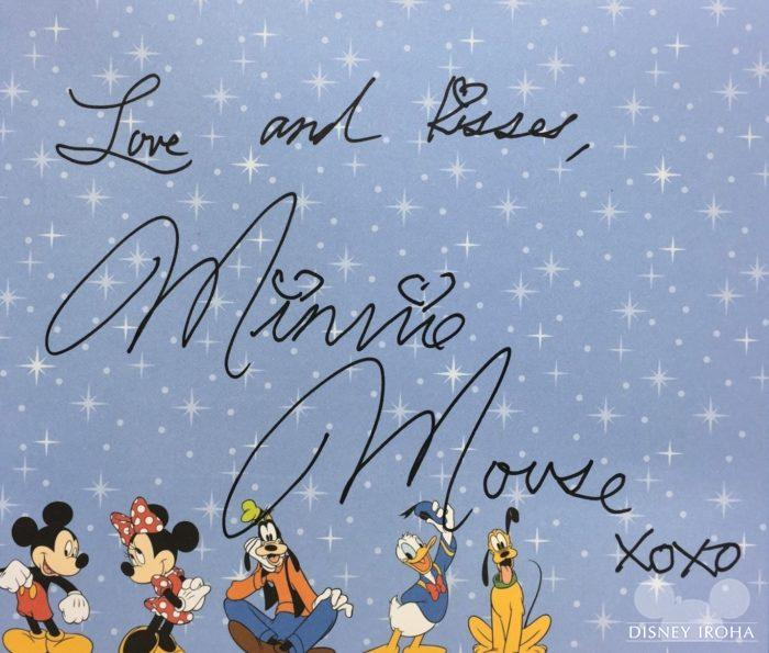 ミニーマウスのサイン