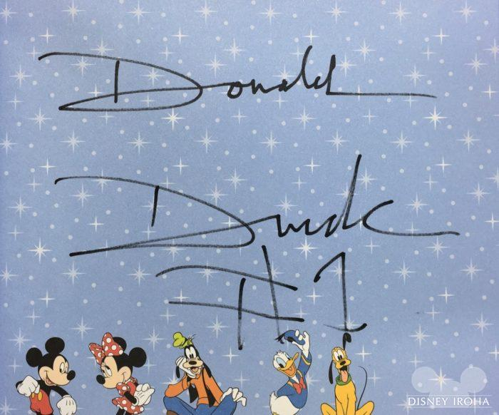 ドナルドダックのサイン