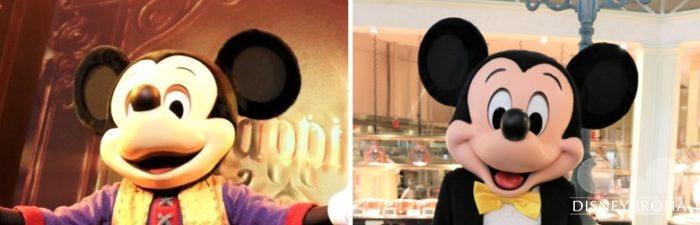 トーキングミッキーとニューフェイスミッキーの比較