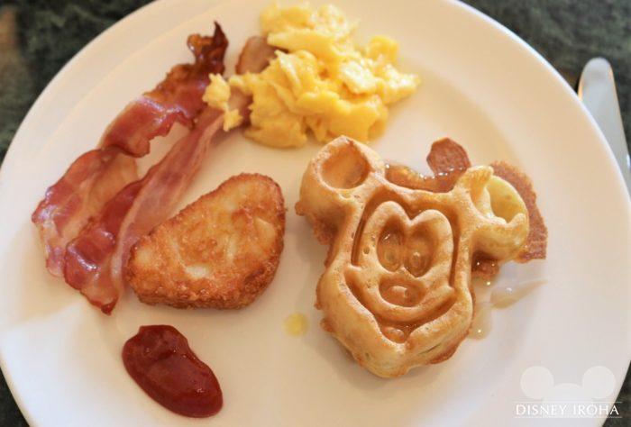 キングダム・クラブ専用ラウンジの朝食