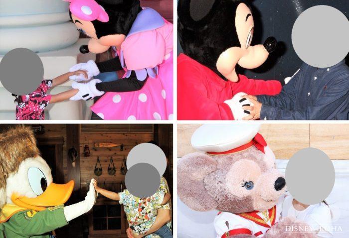 フォトキーカードがあればキャラクターと触れ合うシーンも撮影してもらえます