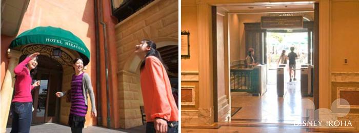 ホテルミラコスタとパークは宿泊者専用の連絡通路で繋がってる