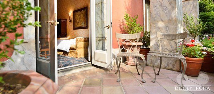 ヴィネツィア・サイド(パラッツォ・カナル側)には中庭付きの客室もある