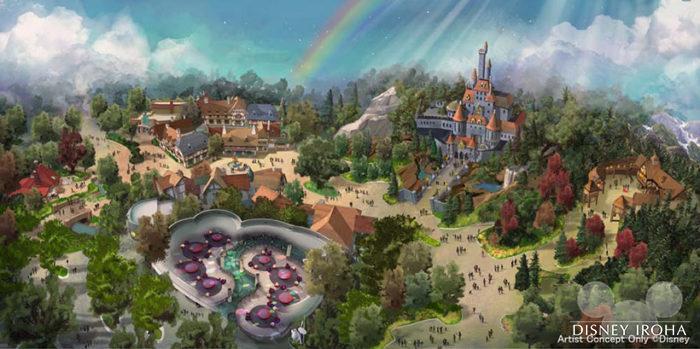 ファンタジーランドにディズニー映画『美女と野獣』をテーマにしたエリアがオープン