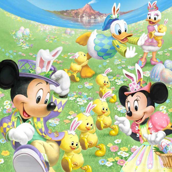 「ディズニー・イースター2019」のイメージ画像のミッキー&ミニーはニューフェイスだった