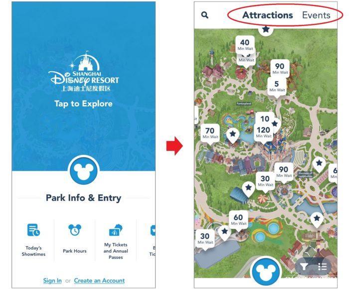 公式アプリ1つで当日の混雑状況やガイドマップの情報をチェックできる