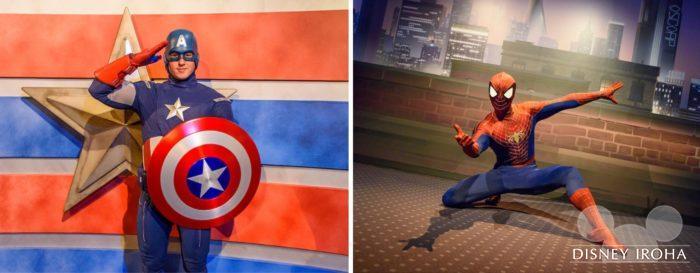 「マーベルユニバース」でキャプテンアメリカとスパイダーマンに会える