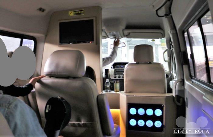 車内のミネラルウォーターは利用者サービス