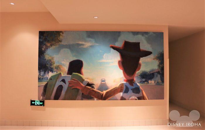 ホテル内に飾られている『トイ・ストーリー』のアート