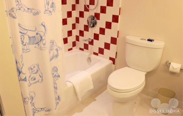 シャワー、トイレ、洗面所は同じ空間