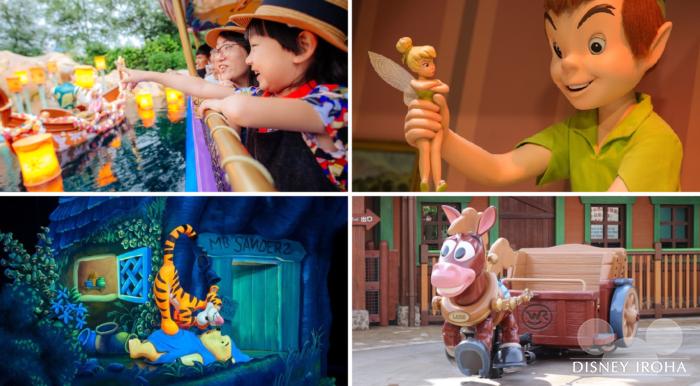 ディズニー映画の世界観に浸れるアトラクションも多い