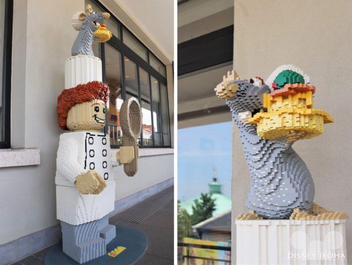 店内に展示されたレゴ作品「レミーとリングイニ」