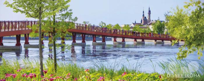 ディズニータウン周辺には湖や公園もある